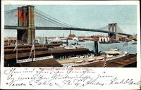 Brooklyn New York City USA, Brooklyn Bridge, Hartfort and Middletown Line