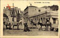 Tanger Marokko, Rue de la Plage, Straßenpartie, Esel, Araber, Flechtkörbe