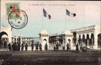 Casablanca Marokko, Les nouvelles Casernes, lEntree, Soldaten, Kaserne