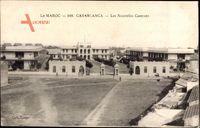 Casablanca Marokko, Les Nouvelles Casernes, Blick auf die Kasernen, Platz