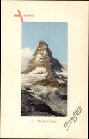 Le Mont Cervin, Totalansicht vom Matterhorn, Monte Cervino
