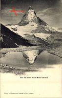 Lac du Riffel et le Mont Cervin, Matterhorn, Reflektion im See
