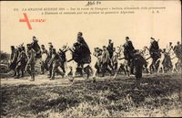 Route de Nieuport, Soldats Allemands faits prisonniers à Dixmude
