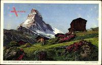 Das Matterhorn, Mont Cervin, Alpen, Ost und Nordwand
