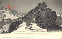 Gipfel des Rimpfischhorn und die Mischabel, Bergwand