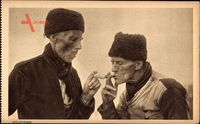 Edam Volendam Nordholland, Zwei Alte Niederländer rauchen