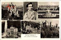 König Ludwig II. von Bayern, Schloss Neuschwanstein, Herrenchiemsee,Linderhof