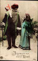 Frohe Weihnachten, Weihnachtsmann, Engel, Tanne, NPG 450 3