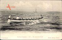 Marine Francaise, En Cours de Joute, Ruderboot, Matrosen