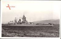 Französisches Kriegsschiff, Batiment de Ligne, Strasbourg, Cuirassé