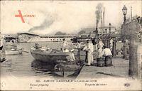 Marine Nationale, Corvée aux vivres, Matrosen im Hafen, Boote