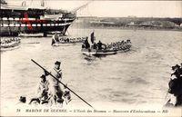 Marine de Guerre, LÉcole des Mousses, Manoeuvre dEmbarcations