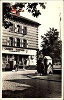 Speyer, Caserne Mormand, Uhr, Soldaten, Straßenpartie, Häuschen, Fahne