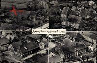 Suurhusen Hinte, Fliegeraufnahme, Stadtpanorama, Häuser, Plätze