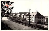 Baumholder, Camp, Gebäude, Französische Kaserne, Masten, Straßenpartie