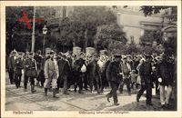 Halberstadt, Einbringung verwundeter Gefangener, Kriegsgefangene, Straße