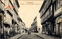 Quedlinburg, Blick in die Breitestraße, Altes Gildehaus Die Rose, Fachwerk