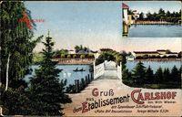 Berlin Spandau, Etablissement Carlshof, Wilh. Wiemer am Schiffahrtskanal