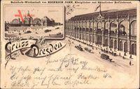 Vorläufer Dresden, Bahnhofswirtschaft, Heinrich John, Hochgleis, 1895