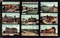 Emden in Ostfriesland, Rathausdelft, Mole, Kaserne, Hafen, Amtsgericht