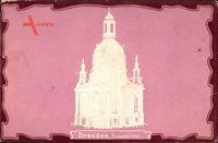 Relief Dresden, Ansicht der Frauenkirche, Vorkrieg