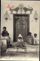 Kairouan Tunesien, Porte dun Marabout, Eingang am Grabmal, Levy & Fils