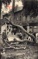 Carcassonne Aude, Cyclone du 19 Aout 1912, umgestürzter Baum, Sturm