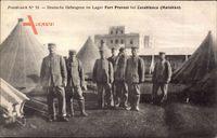 Casablanca Marokko, Deutsche Kriegsgefangene im Lager Fort Provost