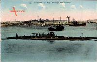 Lorient Morbihan, La Rade, Französisches U Boot, Sous Marin, Port de Guerre