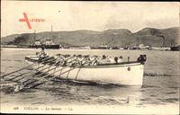 Toulon Var, La chaloupe, Seeleute am Ruder, Levy & Fils L.L. 102