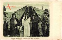Santa Cruz Argentinie, Indios Tehuelches, Indianer vor ihrem Zelt, Kinder