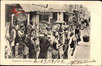 Singapur, Street Scene, Einheimische auf der Straße, Träger