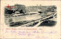 Wien 1. Innere Stadt, Rossauer Kaserne, Augarten Brücke, Rudolfskaserne