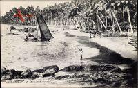 Colombo Ceylon Sri Lanka, A Mount Lavinia, Strand, Palmen, Boot