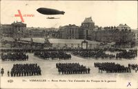 Versailles Yvelines, Revue Hoche, vue densemble des Troupes de la garnison