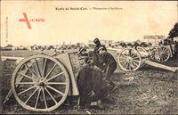 Saint Cyr lEcole Yvelines, Manoeuvre dArtillerie, Kadetten an Geschützen