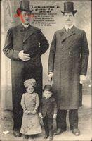 Deux extrêmes en grandeur et en petitesse, Frères Hugo, Nains