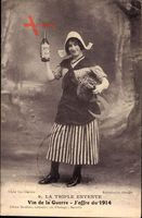La Triple Entente, Vin de la Guerre, Joffre du 1914, Wein, Bäuerin, Sense