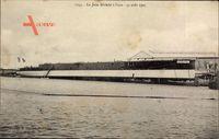 Le Jules Michelet à leau, 31 août 1905, Kriegsschiff, Werft