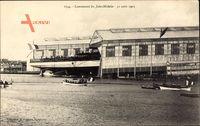 Lancement du Jules Michelet, 31 août 1905, Kriegsschiff, Werft