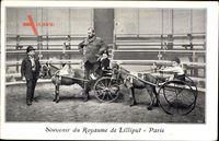 Souvenir du Royaume de Lilliput, Paris, Ponywagen, Liliputaner