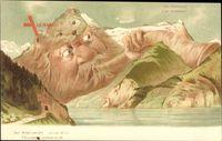 Der Stier von Uri, Killinger No 116, Uri Rothstock, Berggesichter