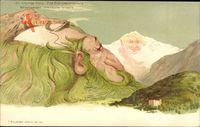 Die Schynige Platte, Erdrindenverkalkung, Berggesichter, Killinger No 104