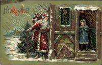 Frohe Weihnachten, Weihnachtsmann, Winter, Schneesturm