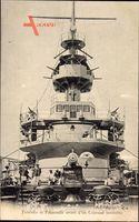 Französisches Kriegsschiff, Tourelle et Passerelle, Cuirassé moderne
