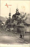 Französisches Kriegsschiff, Un Cuirassé en achevement à flots