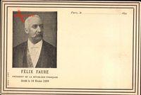 Félix Faure, Von 1895 bis 1899 7. Präsident Frankreichs, Todestag 16 Februar