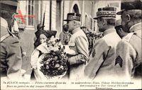 Elsaß, Maréchal Philippe Pétain, Blumensträuße, Alsace