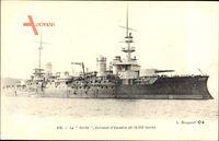 Französisches Kriegsschiff Vérité - ein Geschwader Schlachtschiff von 15.000 Tonnen