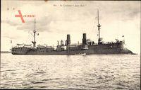 Französisches Kriegsschiff, der Panzer-Kreuzer Jean Bart - Alger-Klasse